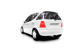 Mini white car back view Stock Photo