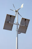 Mini wind power and solar panels. For domestic use Royalty Free Stock Image
