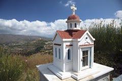 Mini witte kerk Stock Afbeeldingen