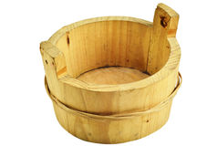 Mini Wood Bucket Royalty Free Stock Photos