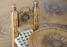 Mini wooden hand made furniture Royalty Free Stock Photography