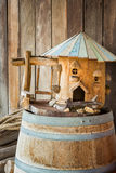 Mini wooden house Stock Images
