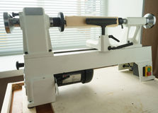 Mini Woodworking Lathe Close Up photo libre de droits