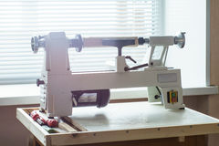 Mini Woodworking Lathe Close Up photos stock