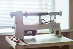 Mini Woodworking Lathe Close Up Stock Photos