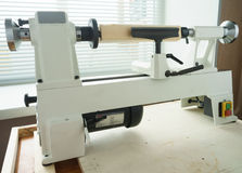Mini Woodworking Lathe Close Up Royalty Free Stock Photography