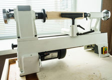 Mini Woodworking Lathe Royalty Free Stock Images