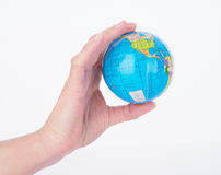 Mini World Globe Royalty Free Stock Images