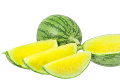 Mini yellow watermelons Royalty Free Stock Photo