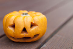 Mini zucca di Halloween Fotografia Stock