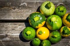 Mini- zucchini för squash för boll för zucchiniboll åtta Royaltyfria Foton