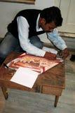 Minianstrich in Indien Stockfotografie
