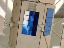 Miniatur Baumuster eines Satelliten Stockbild