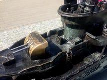 Miniatur des Zerstörers ORP Blyskawica in Gdynia-Hafen, Polen Stockfoto