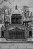 Miniatur` s st. Isaac Kathedrale in St Petersburg, Russland Stockfotografie