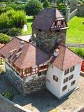 Miniatur Swiss, famous buildings in Switzerland. Toy model Royalty Free Stock Photo