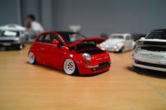 Miniatur von Fiat 500 Lizenzfreie Stockbilder