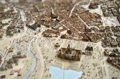 Miniatur von Hannover nach zweitem Weltkrieg Stockfoto