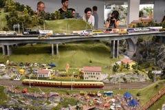 Miniatur Wunderland在汉堡,德国 免版税库存照片