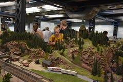 Miniatur Wunderland à Hambourg, Allemagne Images libres de droits