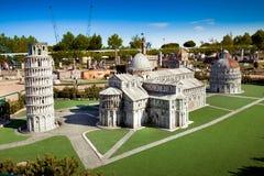 A miniatura da cidade de Pisa cahedral no parque das miniaturas em Rimini, Itália Imagem de Stock
