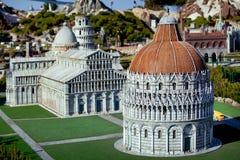 A miniatura da cidade de Pisa cahedral no parque das miniaturas em Rimini, Itália Imagens de Stock