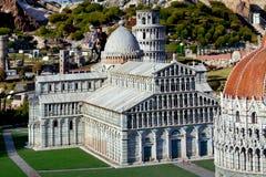 A miniatura da cidade de Pisa cahedral no parque das miniaturas em Rimini, Itália Fotos de Stock