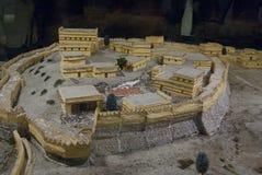 Miniatura da cidade de Troy Fotografia de Stock