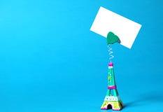 Miniatura da torre Eiffel Fotos de Stock
