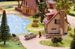 Miniatura da vila Fotos de Stock Royalty Free