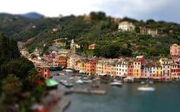 Miniatura de la rotación de la inclinación de Portofino Génova fotografía de archivo