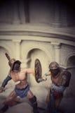 Miniatura de los soldados romanos del empire Imagen de archivo libre de regalías