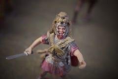 Miniatura de los soldados romanos del empire Imágenes de archivo libres de regalías