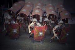 Miniatura de los soldados romanos del empire Fotos de archivo libres de regalías