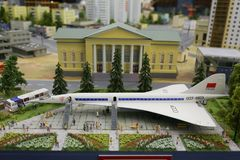 Miniatura, miniatura de Rússia Aviões supersônicos Fotografia de Stock