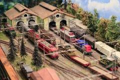 Miniatura de um estação de caminhos-de-ferro foto de stock royalty free