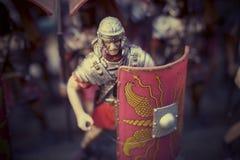 Miniatura dei soldati romani del empire Fotografia Stock Libera da Diritti