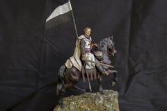 Miniatura del caballero de Templar Foto de archivo libre de regalías