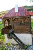 Miniatura della casa natale serba dell'azienda agricola fotografia stock