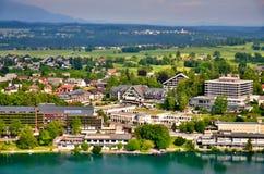 Miniatura della città Bled Fotografia Stock