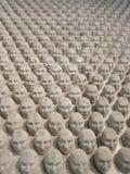 Miniatura della scultura delle teste Fotografia Stock Libera da Diritti