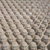 Miniatura della scultura delle teste Immagine Stock Libera da Diritti