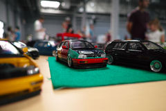 Miniatura delle automobili classiche Immagine Stock