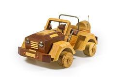 Miniatura di legno dell'automobile Fotografia Stock Libera da Diritti