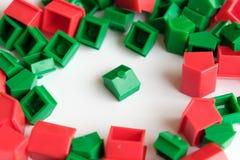 Miniatura dom, dom/- rynku budownictwa mieszkaniowego pojęcie Obraz Stock