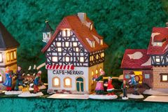 Miniatura a graticcio della casa di simbolo di Norimberga Fotografia Stock