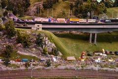 Miniatura Wunderland w Hamburg, Niemcy zdjęcia stock