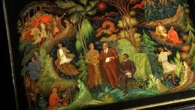 Miniaturas da laca de Palekh, região de Ivanovo filme