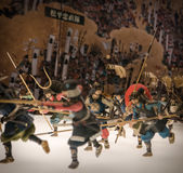Miniaturas de soldados japoneses tradicionales en Osaka Castle Fotografía de archivo