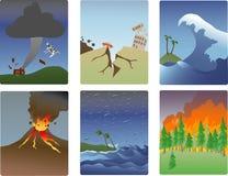 Miniaturas do disastre natural Fotos de Stock